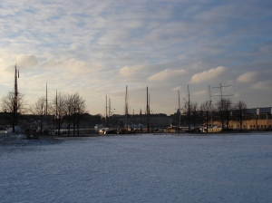 Sun and Snow in Stockholm